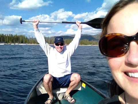 Canoeing in Redfish Lake