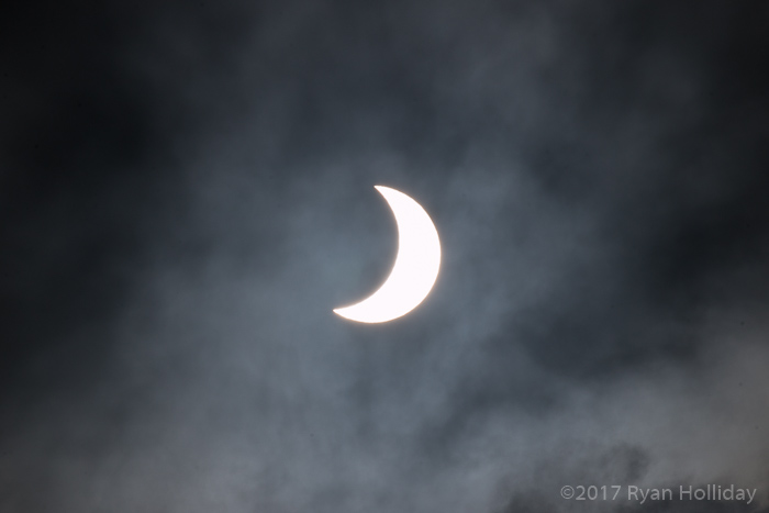 The Eclipse in the Clouds