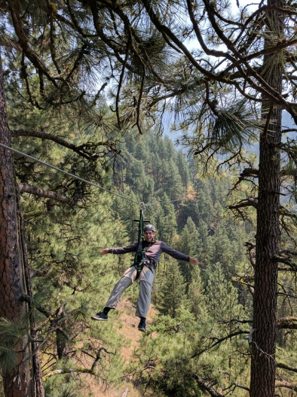 Ziplining in Idaho