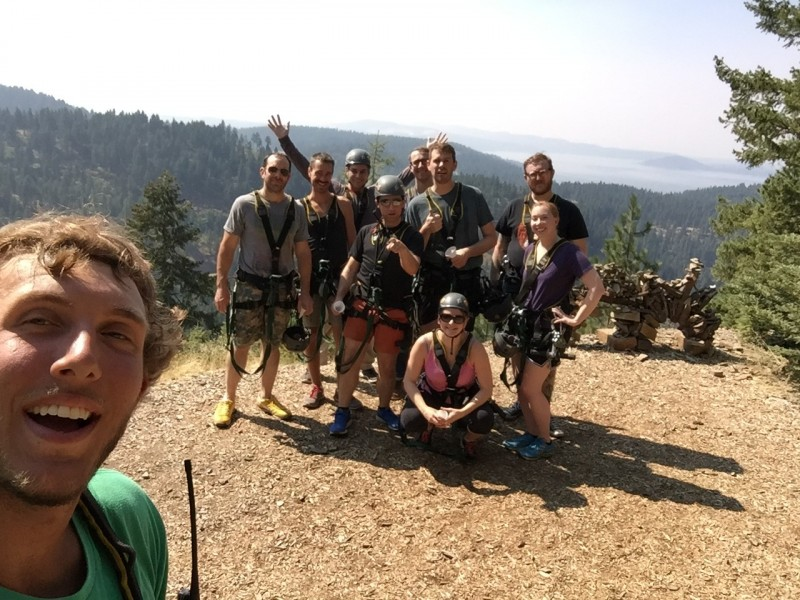 Commerce Architects Ziplining in Idaho
