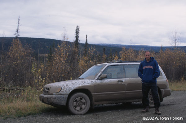 The Suby and me on the Dalton Highway