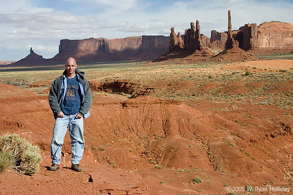 Self-Portrait in Monument Valley