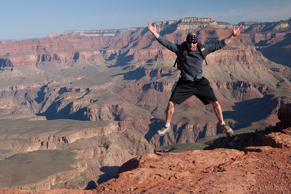 Aaron airborn in the Grand Canyon