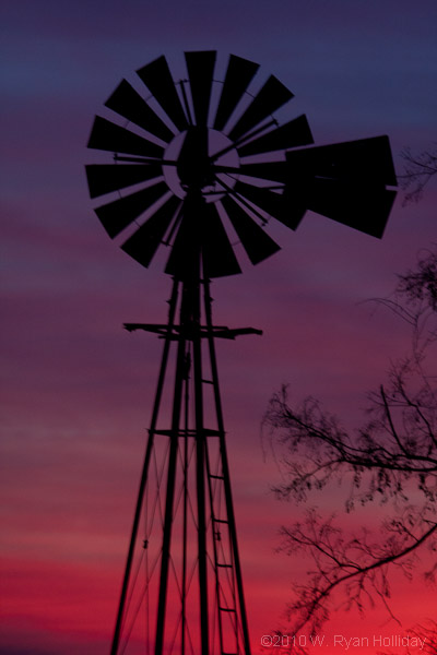 Kansas Windmill at Sunset