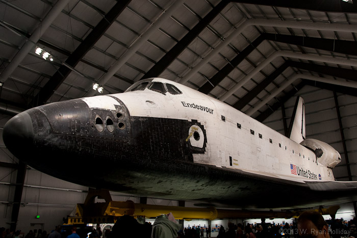 The Shuttle Endeavour at the California Science Center