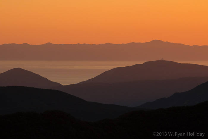 Sunset over the Santa Barbara Channel