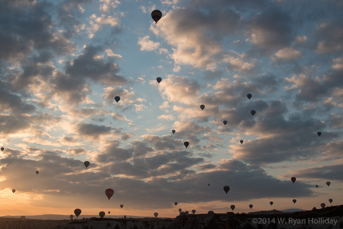 Cappadocia hot air balloon launch