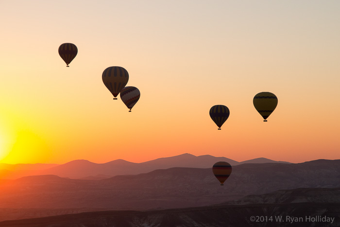 Cappadocia hot air balloon sunrise