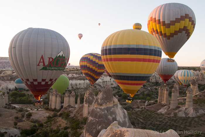 Cappadocia hot air balloons in Love Valley