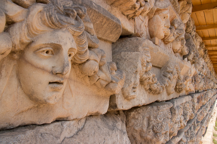 Marble carvings at Aphrodisias