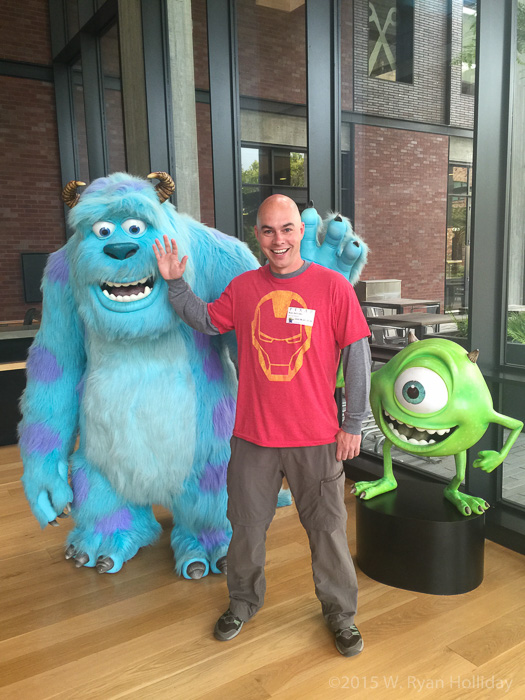 Mike, Sully, and Ryan at Pixar