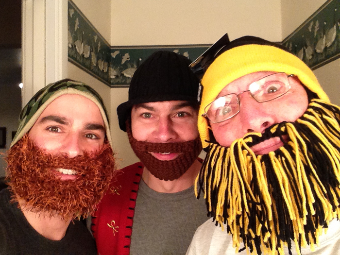 Holliday family beard heads